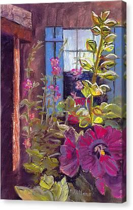 Blue Shutters Canvas Print by Julie Maas
