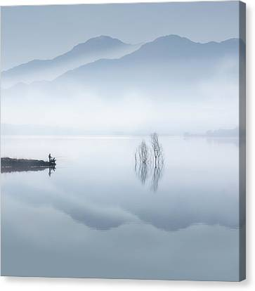 Soft Pastel Canvas Print - Blue Silence by Jose Beut