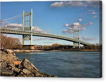 Blue Skies Over The Triboro Canvas Print by JC Findley