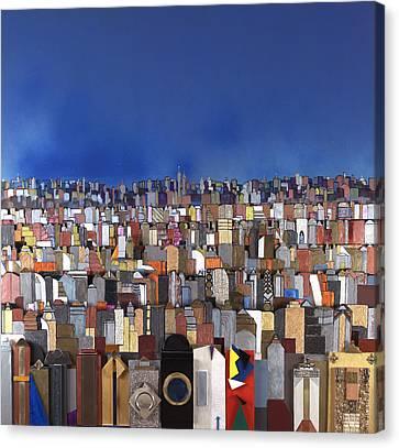 Blue Sky Big City Canvas Print