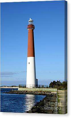 Blue Sky Blue Sea  And Barnegat Light Canvas Print by Christiane Schulze Art And Photography