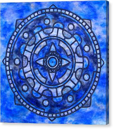 Blue Sky Mandala Canvas Print by Vlatka Kelc