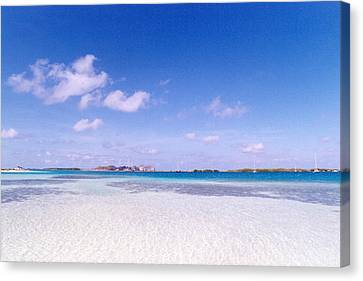 Blue Sky Over White Sandy Beach Canvas Print by Celso Diniz