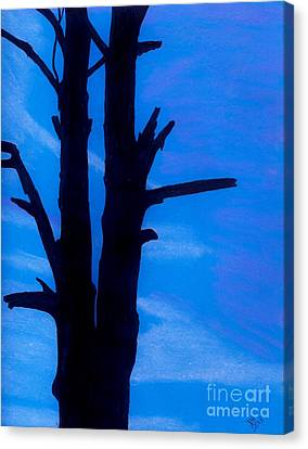 Canvas Print featuring the drawing Blue Sky Tree by D Hackett
