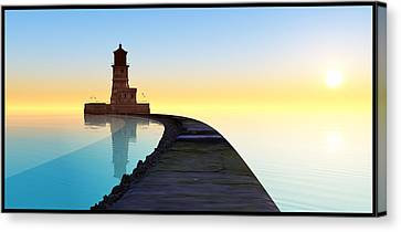 Blue Smooth Canvas Print