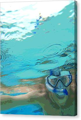 Blue Snorkel Canvas Print