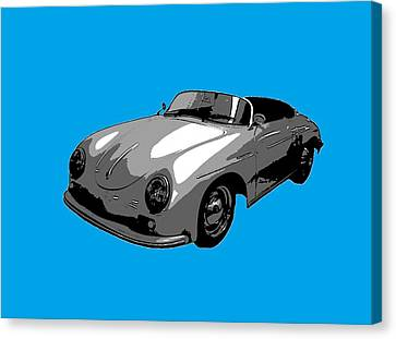 Blue Speedster Canvas Print by J Anthony