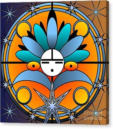 Blue Star Kachina 2012 Canvas Print