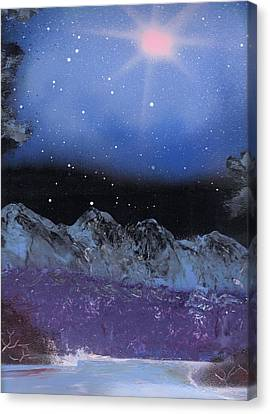 Blue Stars Night Canvas Print by Marc Chambers