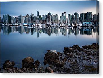 Stanley Park Canvas Print - Blue Steel by Alexis Birkill