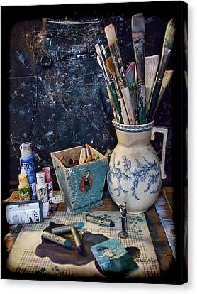 Blue Still Life Canvas Print by Bellesouth Studio