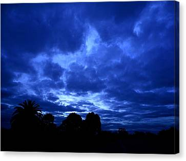 Blue Storm Rising Canvas Print