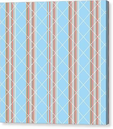 Blue Stripe Pattern Canvas Print by Christina Rollo