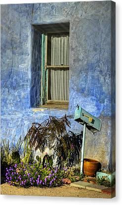 Blue Stucco Window Canvas Print by Ken Smith