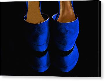 Blue Suede Shoes Canvas Print by Nancie Rowan