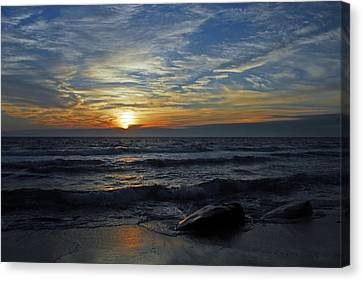 Blue Sunset Canvas Print by Dan Myers