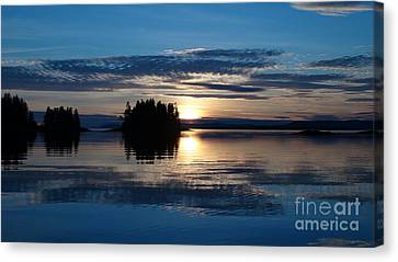Blue Sunset Canvas Print