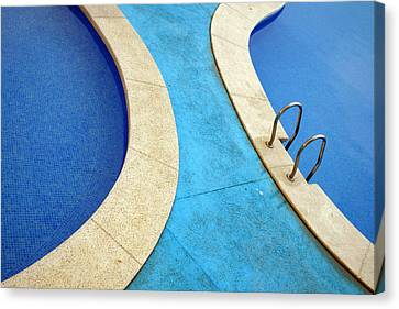 Blue Swimming Pools Canvas Print by Patrick Dinneen