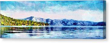 Blue Tahoe Canvas Print by Jeffrey Kolker