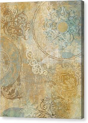 Blue Tapestry Canvas Print by Marilu Windvand