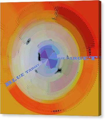 Blue Target Canvas Print by Ben and Raisa Gertsberg