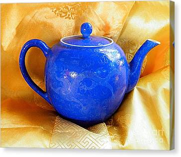 Blue Teapot Canvas Print