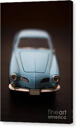 Toy Car Canvas Print - Blue Toy Car by Edward Fielding