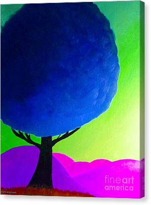 Blue Tree Canvas Print by Anita Lewis