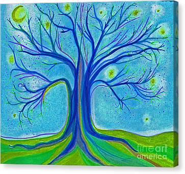 Blue Tree Sky By Jrr Canvas Print by First Star Art