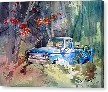 Blue Truck Canvas Print