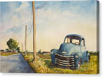 Blue Truck North Fork Canvas Print