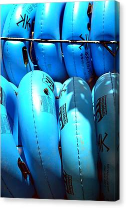 Canvas Print featuring the photograph Blue Tube by Cathy Shiflett
