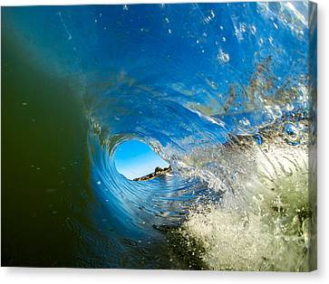 Blue Tube Canvas Print by David Alexander