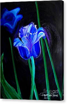 Blue Tulip Variation Canvas Print