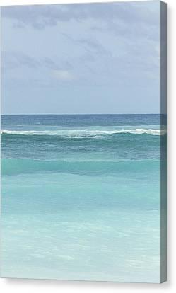 Blue Turquoise Teal Beach Gradient Photo Art Print Canvas Print by Ocean Photos