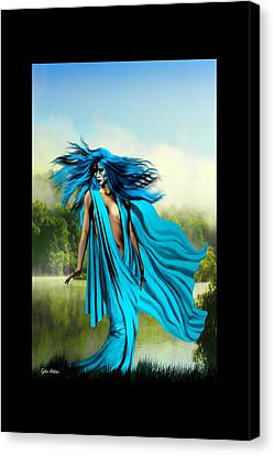 Canvas Print featuring the painting Blue by Tyler Robbins