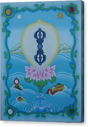 Blue Vajra Canvas Print by Andrea Nerozzi