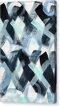 Blue Valentine- Abstract Painting Canvas Print by Linda Woods