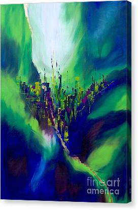 Blue Valley Canvas Print by Pia Malmstrup