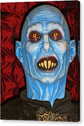 Canvas Print featuring the photograph Blue Vampire by Joan Reese