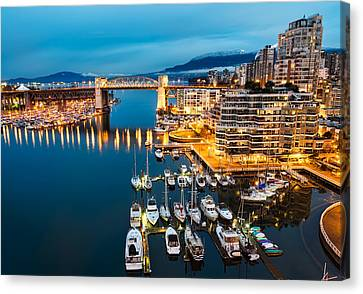 Blue Vancouver Morning Canvas Print by James Wheeler