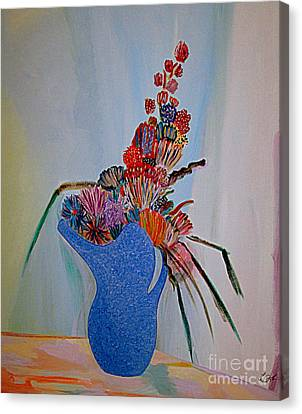 Blue Vase 22 Canvas Print