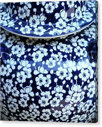 Blue Vase Canvas Print by Rick Piper Photography