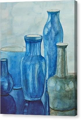 Blue Vases I Canvas Print