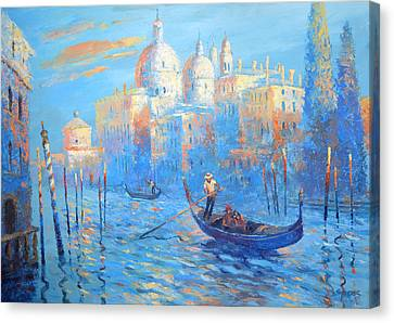 Blue Venice Canvas Print by Dmitry Spiros