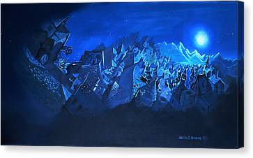 Blue Village Canvas Print by Joseph Hawkins