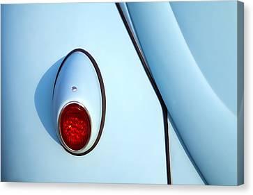 Blue Vw Bug Taillight Canvas Print by Carol Leigh