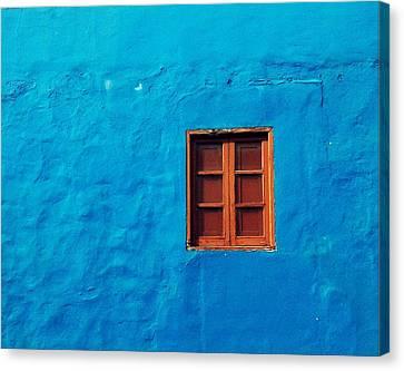 Blue Wall Canvas Print by Gustavo Garcia