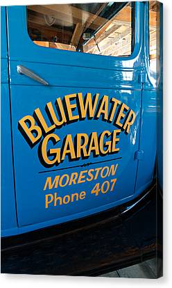 Pioneer Museum Canvas Print - Blue Water Garage - Model T Truck by Steve Harrington