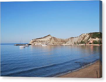 Canvas Print featuring the photograph Blue Water by George Katechis